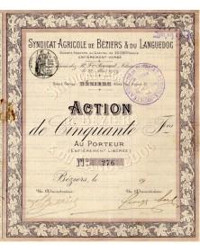 Syndicat Agricole de Béziers & du Languedoc (Allées Paul Riquet)