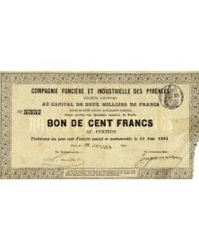 Cie Foncière et Immobilière des Pyrénées