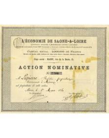 L'Economie de Saône-et-Loire Cie d'Assurances Contre l'Incendie