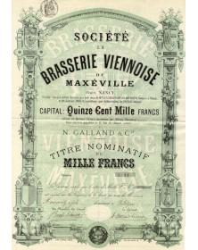 Sté La Brasserie Viennoise de Maxéville Près Nancy, N. Galland & Cie