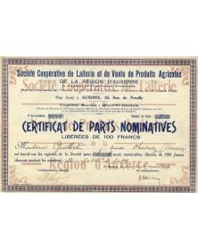 Sté Coopérative de Laiterie et de Vente de Produits Agricoles de la Région d'Auxerre