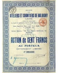 Sté des Ateliers et Chantiers de Balbigny (Loire)
