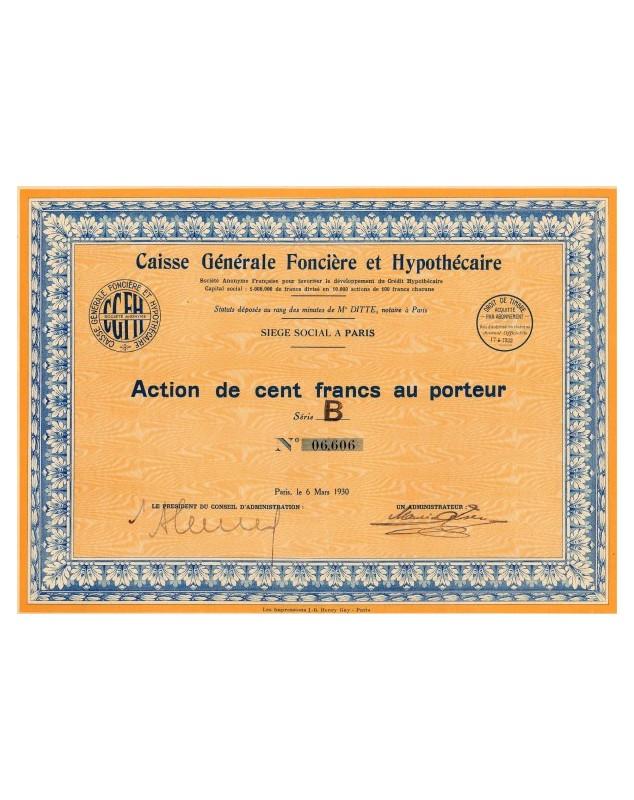 Caisse Générale Foncière et Hypothécaire