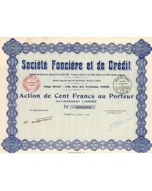 Sté Foncière et de Crédit