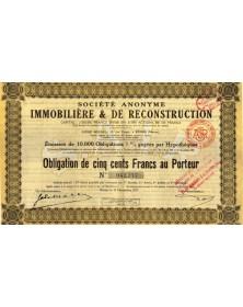 S.A. Immobilière & de Reconstruction