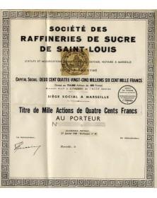 Sté des Raffineries de Sucre de Saint-Louis