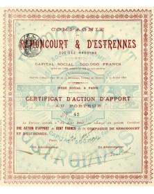 Cie de Remoncourt & d'Estrennes