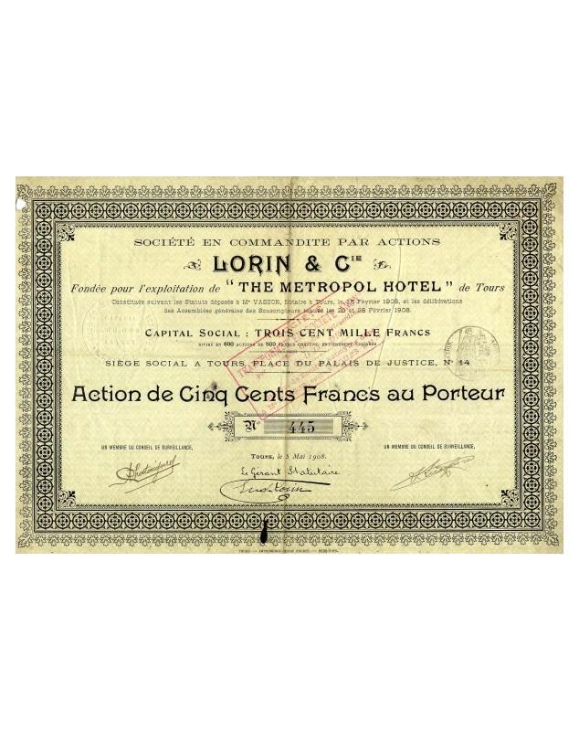 Sté Lorin & Cie, The Metropol Hotel de Tours