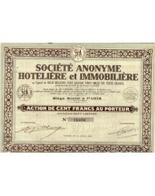 S.A. Hôtelière et Immobilière