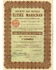Sté des Hôtels Elysée Marignan
