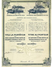 Sté Franco-Roumaine de Matériel de Chemins de Fer