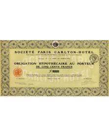 Sté Paris Carlton-Hotel