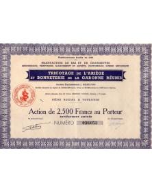 Tricotage de l'Ariège et Bonneterie de la Garonne