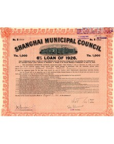 Shanghai Municipal Council - Emprunt 6% 1926