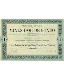 Sté Suisse des Mines d'Or de Gondo