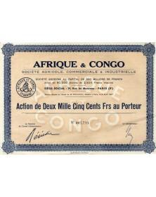 Afrique & Congo Sté Agricole, Commerciale & Industrielle