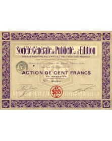 Sté Générale de Publicité & d'Edition