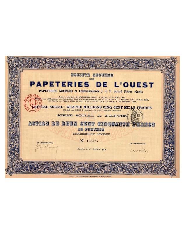 S.A. des Papeteries de l'Ouest (Gouraud, J. et P. Girard Frères réunis)