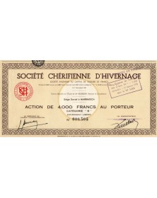 Sté Chérifienne d'Hivernage