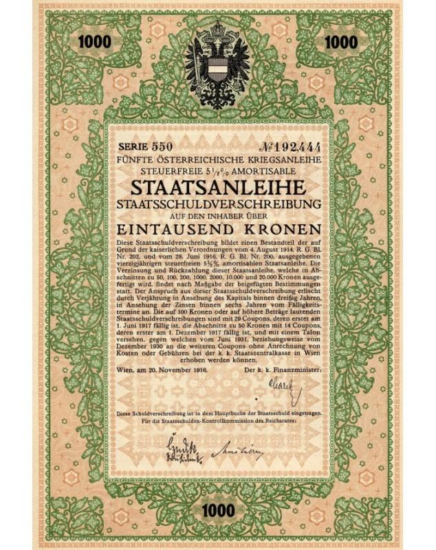 5ème Emprunt de Guerre Autrichien