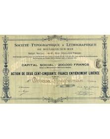 Sté Typographique & Lithographique de Boulogne-sur-Mer