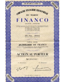 Cie Financière Franco-Belge du Maroc FINANCO