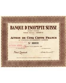 Banque d'Escompte Suisse