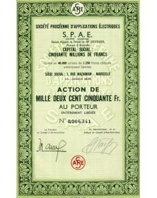 Sté Phocéenne d'Applications Electriques (SPAE)