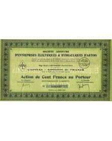 S.A. d'Entreprises Electriques & Hydrauliques d'Artois