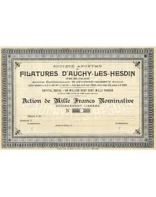 S.A. des Filatures d'Auchy-les-Hesdin. Anciens Ets Wattine-Bossut Frères