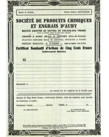 Sté de Produits Chimiques et Engrais d'Auby