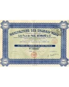 Manufacture des Engrais ''Novo'' Ets Paul Bernard & Cie