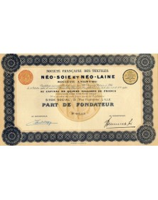 Sté Française des Textiles Néo-Soie et Néo-Laine