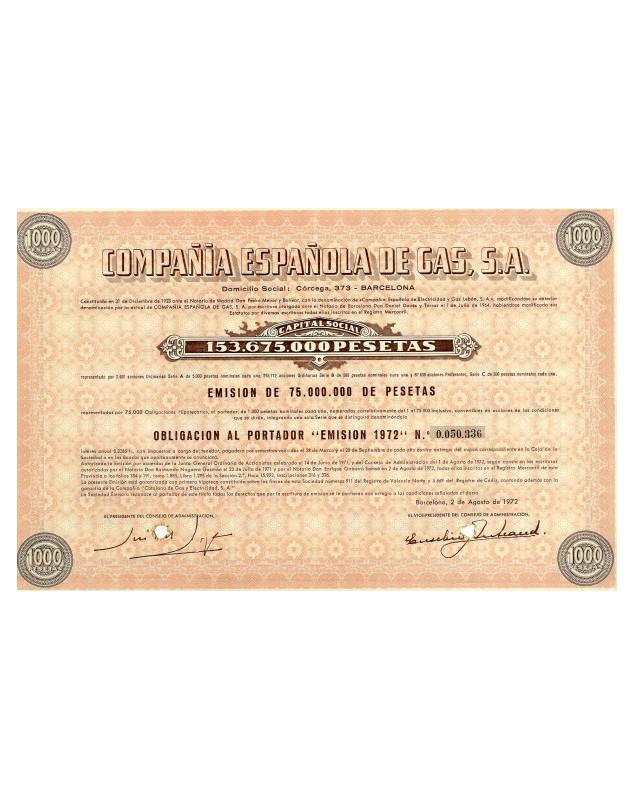Cia Española de Gas, S.A.