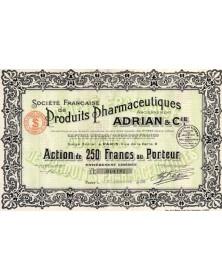 Sté Française de Produits Phamaceutiques, Anciennement Adrian & Cie