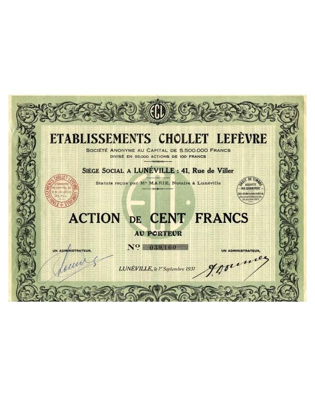 Ets Chollet Lefèvre