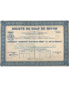 Sté du Golf de Royan