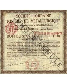 Sté Lorraine Minière et Métallurgique