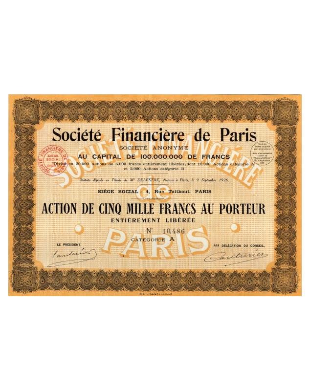 Sté Financière de Paris