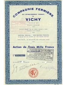 Cie Fermière de l'Etablissement Thermal de Vichy
