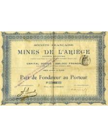 Sté Française des Mines de l'Ariège