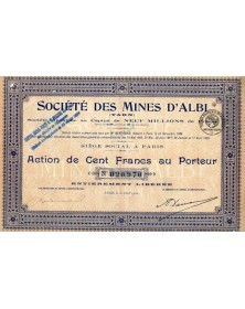 Sté des Mines d'Albi (Tarn)