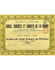 S.A. des Chaux, Ciments et Enduits de la Drôme (Ets Fleuret)