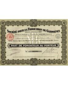 """Sté pour la Fabrication de Gazogènes -Brevets Générateur Rex-"""""""""""