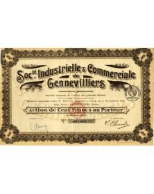 Sté Industrielle & Commerciale de Genevilliers