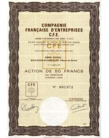 Cie Française d'Entreprises C.F.E.