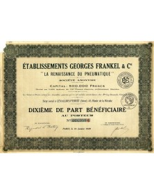 """Ets Georges Frankel -La Renaissance du Pneumatique-"""""""""""