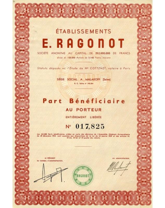 Ets E. Ragonot