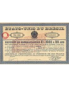 Emprunt de Consolidation  5% 1931 à 20 ans