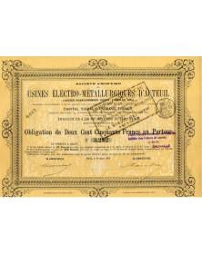 S.A. des Usines Electro-Métallurgiques d'Auteuil, Anciens Ets Oudry